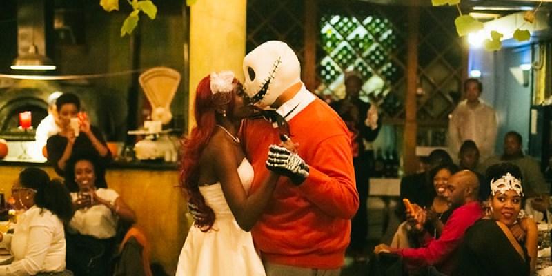 Halloween pop-up wedding in Brooklyn from @offbeatbride