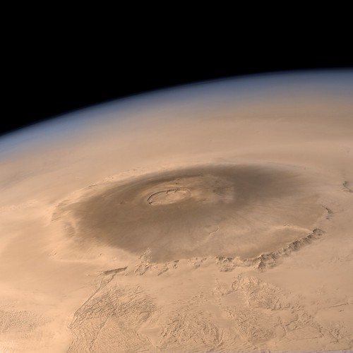 Olympus Mons  Mars Express  Olympus Mons towers above
