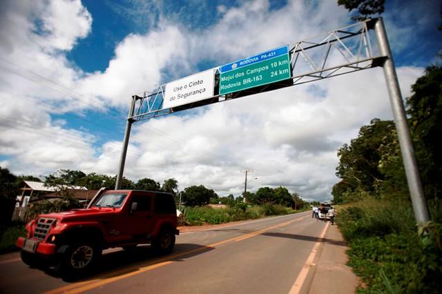 Mojuí dos Campos assina TAC do MP para municipalização do trânsito, Mojuí dos Campos, entrada pela BR-163