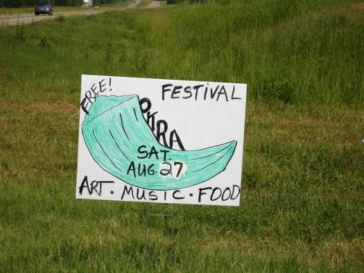 Sign, Okra Festival 2005, Burkville AL