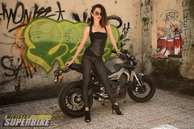 Dinara and the Yamaha MT-09