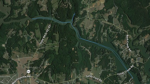 Lake Blalock Paddle Route