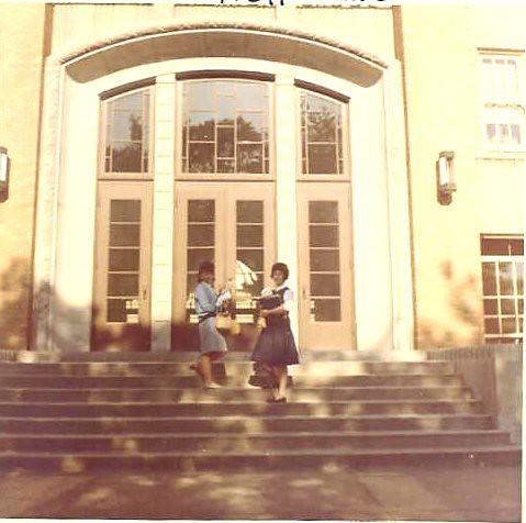 Immaculata High School Detroit MI  Toni and Peggy pose