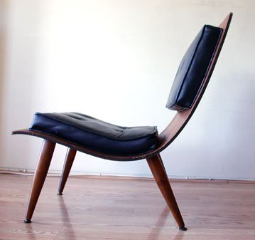 Bent Plywood Lounge Chair side  cgiebaycomws