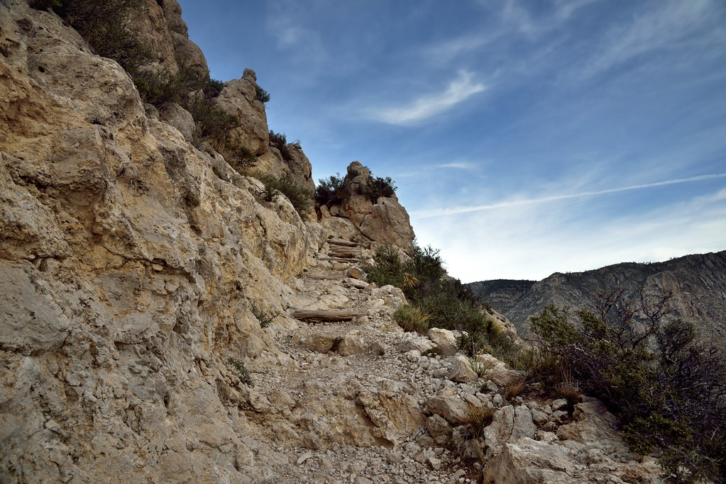 Sheer Cliff Wall to Hike in Guadalupe Mountains National P