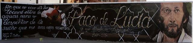 Graffiti dedicado a Paco de Lucía