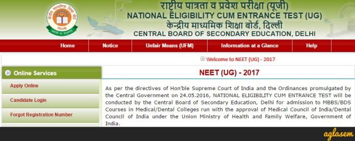 NEET Online Application Form