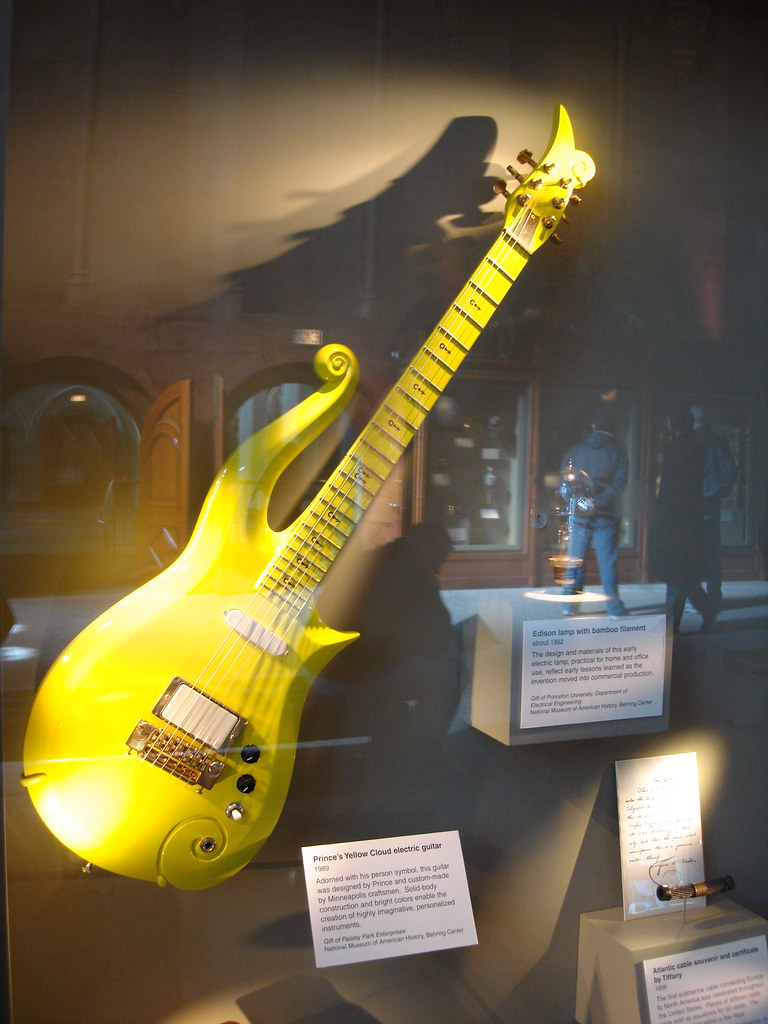 Princes Yellow Cloud Electric Guitar  At the Smithsonian