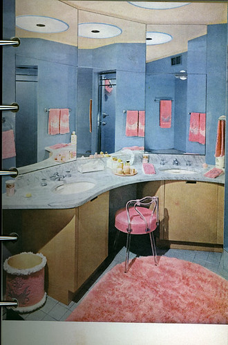 Garish Pink 50s dressing room  Can you believe these