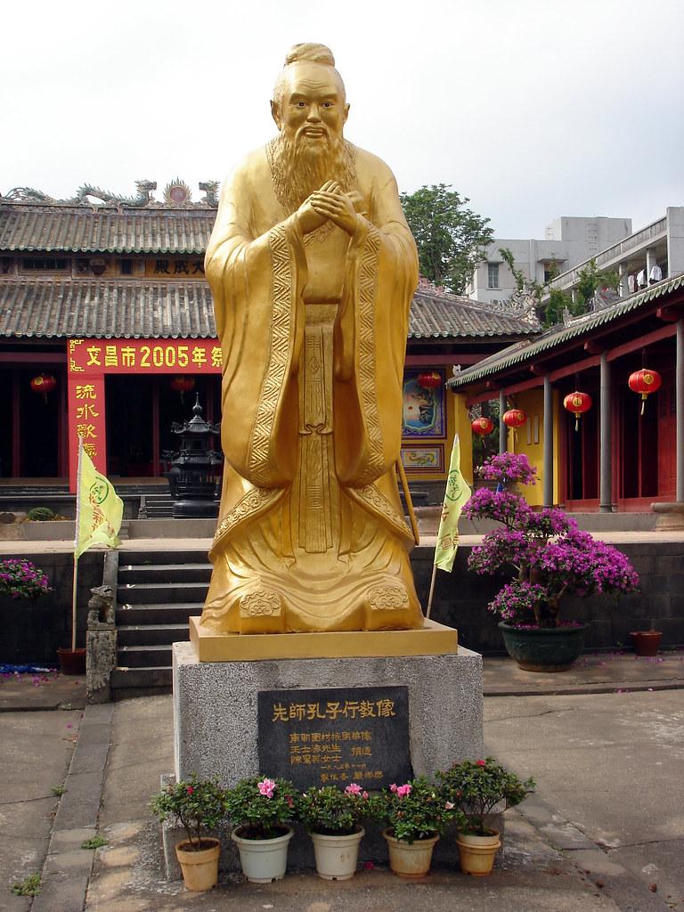Confucius Kong Zi Kungfutzu or Kongfuzi Statue  Fro  Flickr