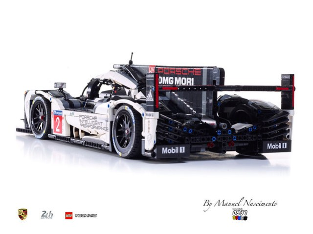 porsche 919 le mans version 2016 hellobricks blog lego. Black Bedroom Furniture Sets. Home Design Ideas