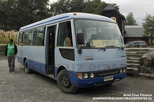 Buses Puerto Varas - Petrohué / Mitsubishi Fuso Rosa (VS8595)