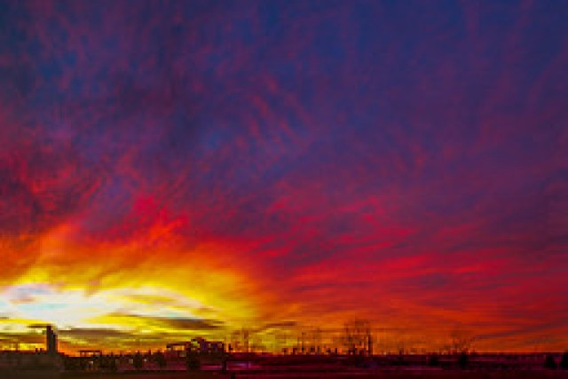 122016 - Incredible Nebraska December Sunset (Pano)