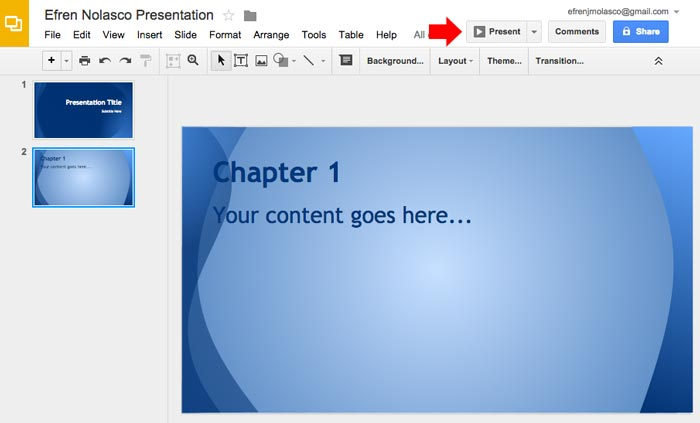 How to create powerpoint presentation step 11