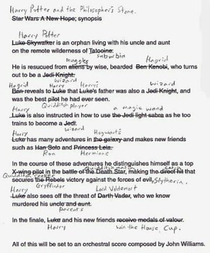 Harry Potter, the script | An early draft of Harry Potter