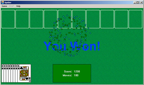 spider solitaire 1200  Matched my high score today Man