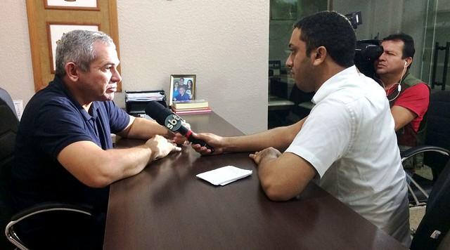 SBT de Itaituba chega a Santarém para fazer reportagem sobre o HMS, TV Tapajoara em Santarém
