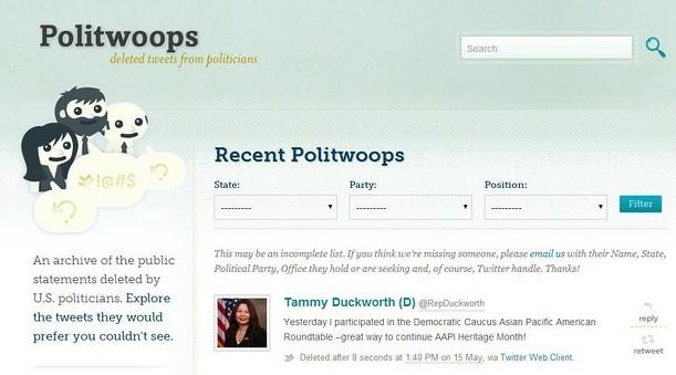 Twitter bloquea página que almacena tuits borrados de políticos