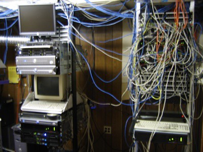 Old Server Room A Couple Of The Racks In The Old Server