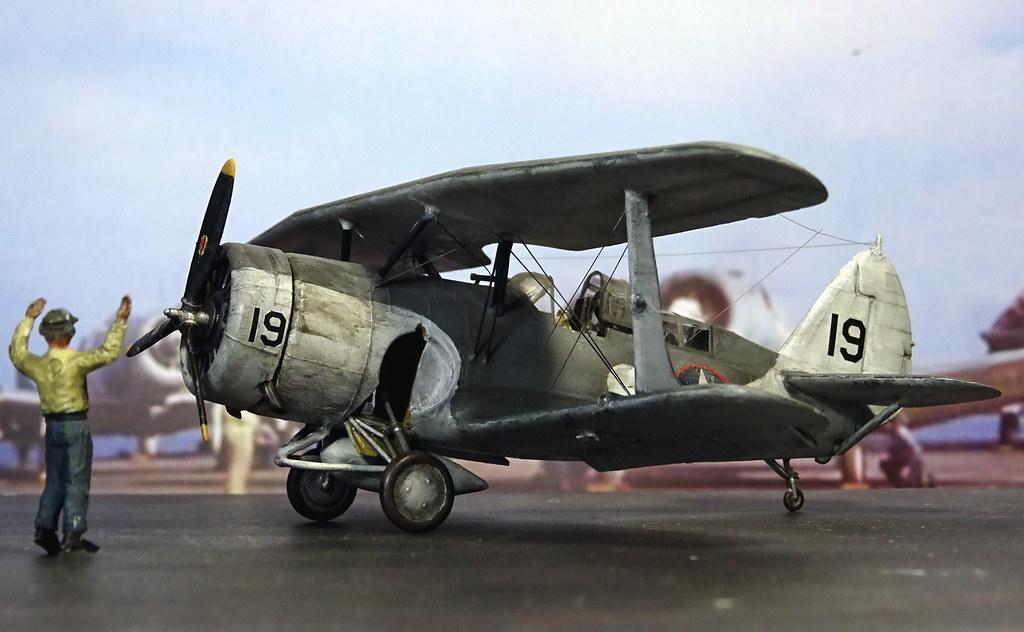 1:72 Curtiss SBC-4 'Helldiver'. aircraft '19' of US Navy C… | Flickr