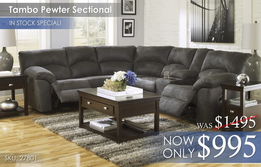 Tambo Pewter Sectional 27801