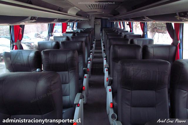 Buses Nilahue | Interior | Mascarello Roma 370 - Volvo / JJJC29