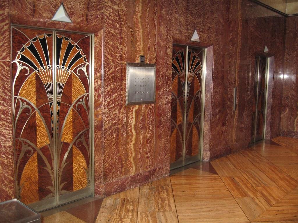 Chrysler Building Elevator Lobby  Fantastic art deco
