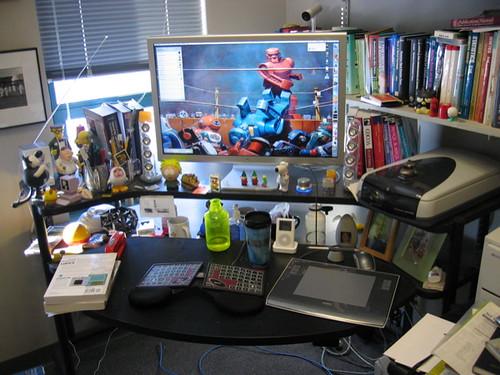 desk clutter  flip phillips  Flickr