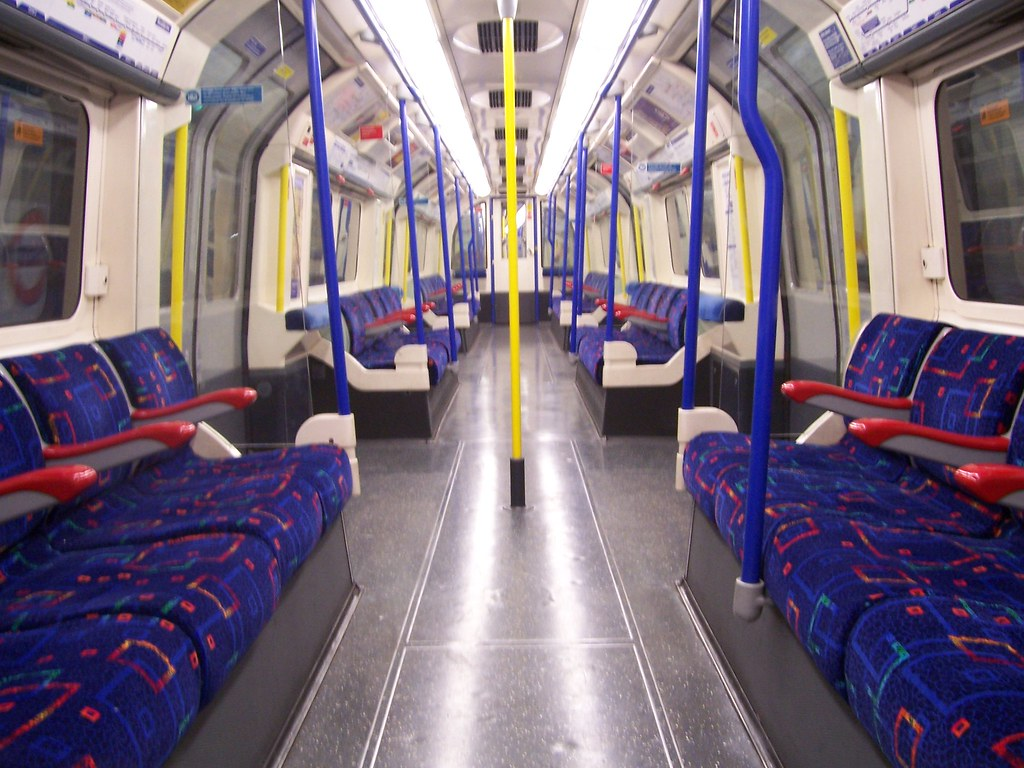Piccadilly Line train interior  Wow A completely empty Pic  Flickr