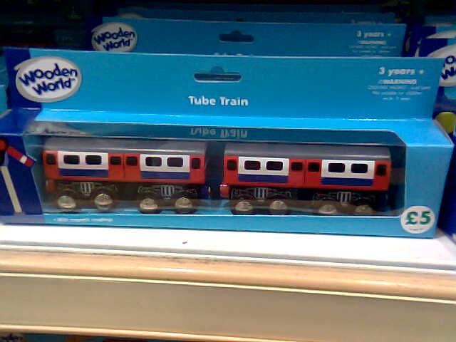 Packaged London Underground Wooden Toy Tube Train  From