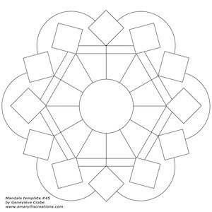 Mandala template 45