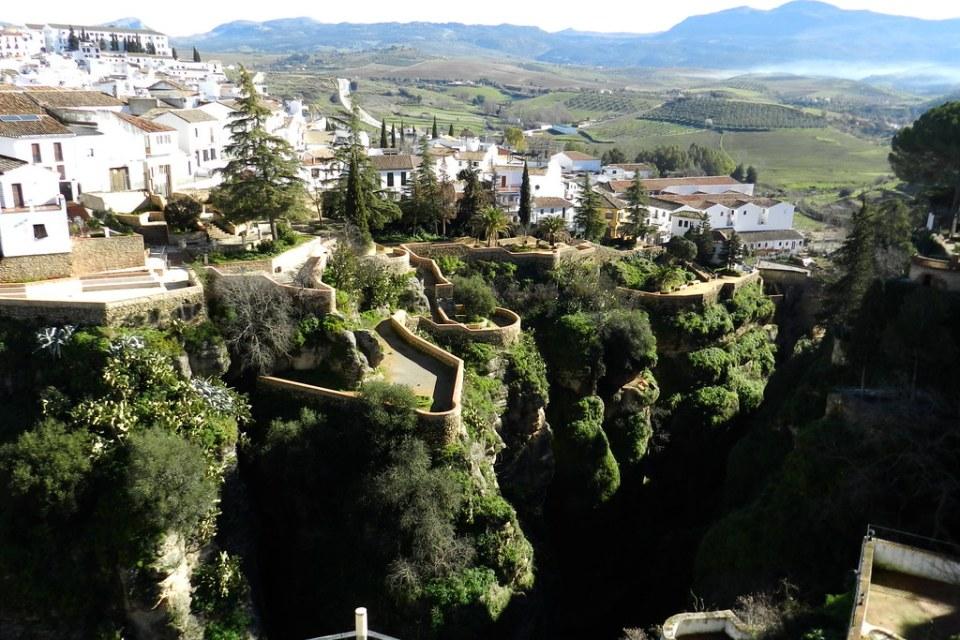 Jardines de Cuenca y puente Viejo Ronda Malaga 04