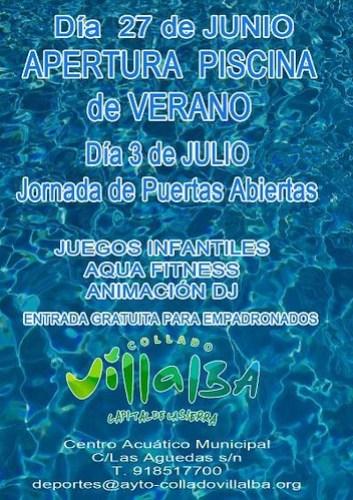 Se abren las piscinas municipales for Piscina villalba