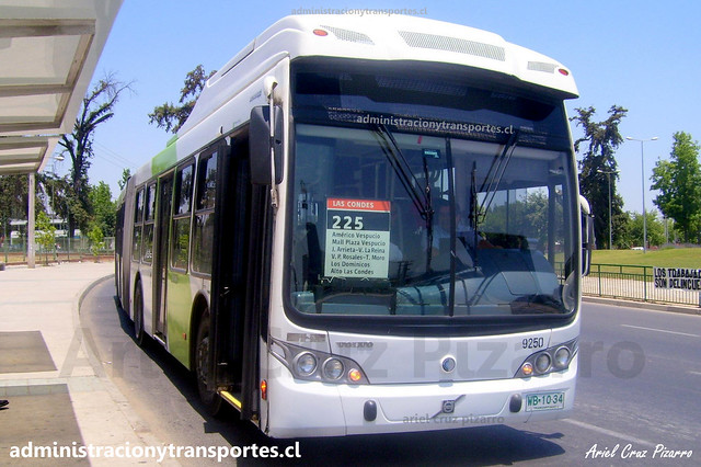 Transantiago 225   Subus   Caio Mondego LA - Volvo / WB1034