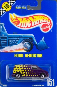 1991 Hot Wheels Ford Aerostar Collector Number