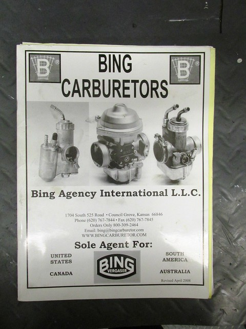 "Bing Agency ""Bing Carburetors"""