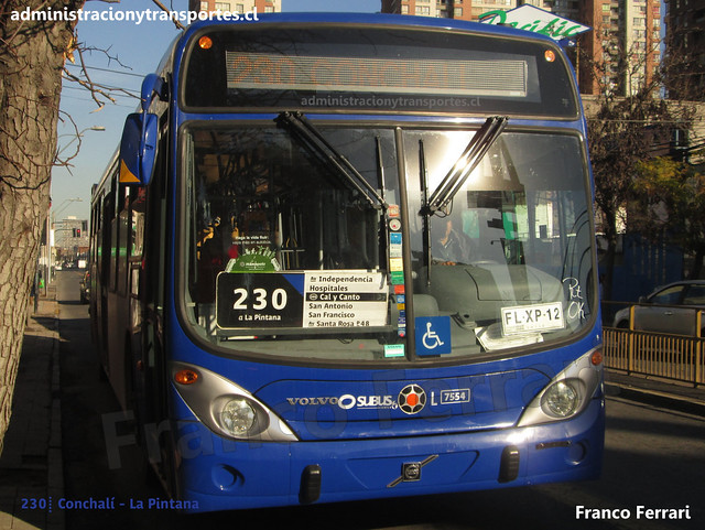Transantiago 230 | Subus | Marcopolo Gran Viale - Volvo / FLXP12