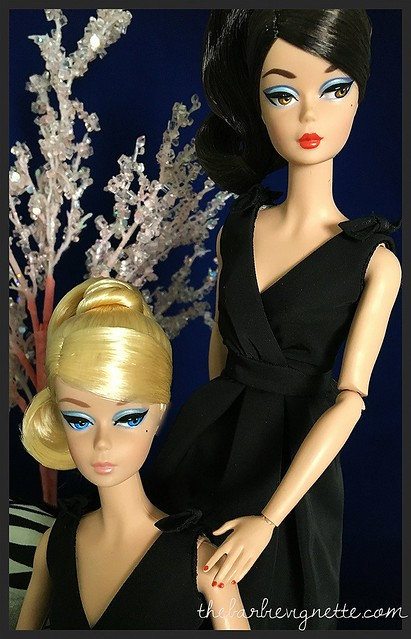 Classic black dress barbie doll