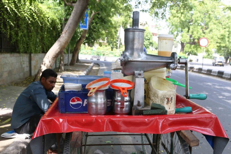 Portrait of a Juice Vendor