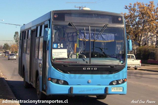 Transantiago E14 | Unitran | Caio Apache STD - Mercedes Benz / YS3980