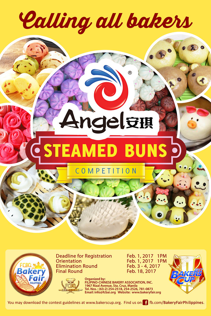 Philippine Bakers Cup - Angel Yeast  Steamed  Bun Competition Poster
