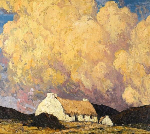 Paul Henry - Landscape With Cottage .1929-34