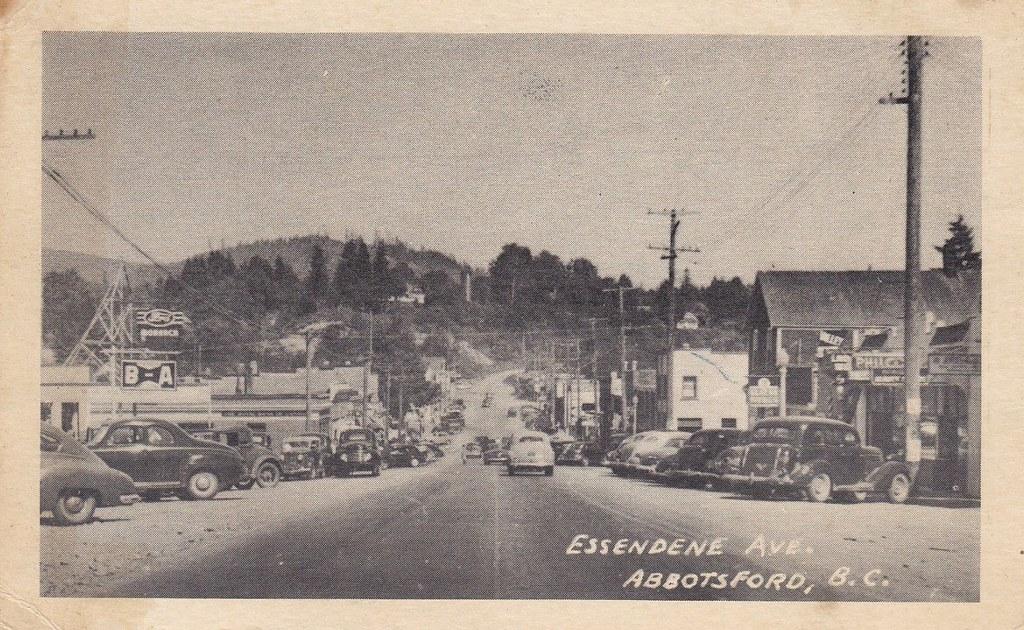 Postcard Abbotsford BC c1950  Essendene Ave Abbotsfor  Flickr