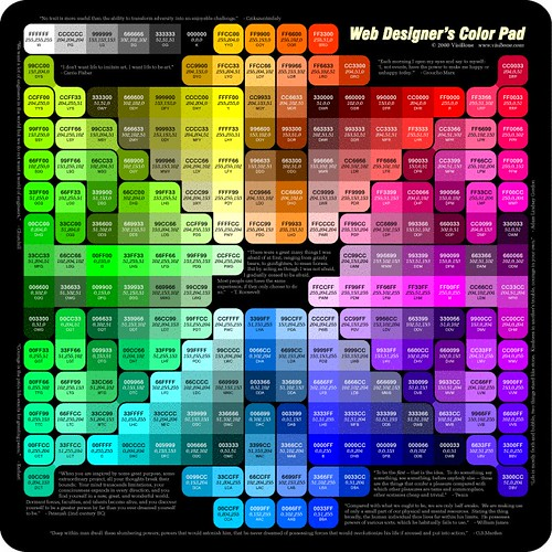 Web Designers Color Pad  wwwvisibonecomcolorpad_800