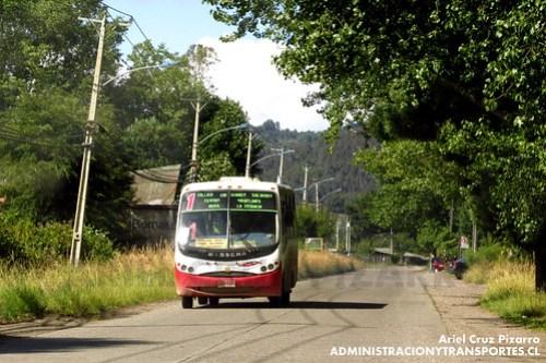 Valdivia - Línea 1 | Línea Uno Collico | Busscar Micruss / Mercedes Benz (XE6906)