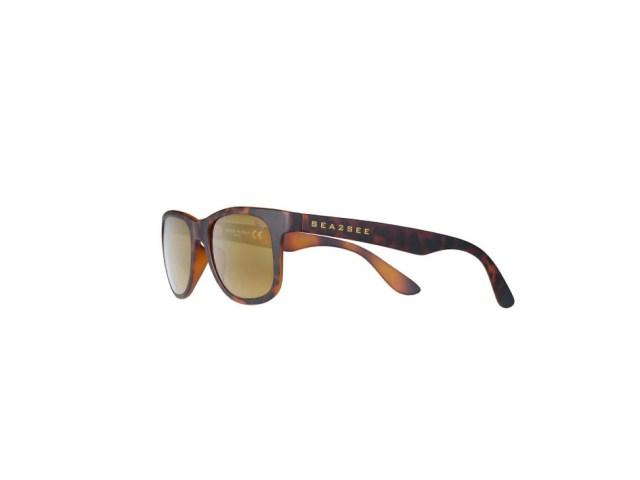 Gafas de sol de Sea2see para hombre con cristales de color y montura carey