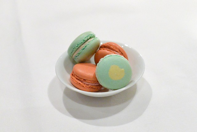 FENNEL-ROSE AND RASPBERRY MACARONS