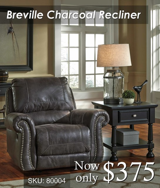 Breville Charcoal recliner
