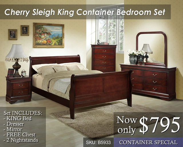 Cherry Sleigh B5933 King Container