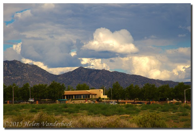 Sandia Mountain and A Frog Cloud